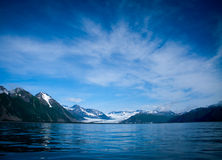 Resurrection Bay. Water and blue sky of Resurrection Bay Alaska stock photography