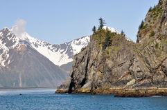 Resurrection Bay in Alaska stock photography