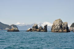Resurrection Bay in Alaska Stock Photo