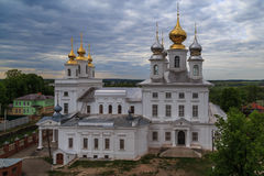 Resurrection Cathedral in the ancient. Russian town of Shuya Stock Photos