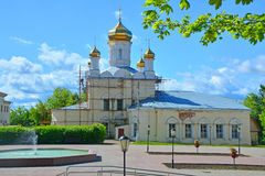 Resurrection Cathedral in historical center of Ruza city, Moscow region, Russia Royalty Free Stock Images