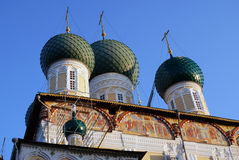 Resurrection Cathedral in Tutaev town Stock Photo