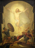 Resurrection of Christ. Altarpiece depicting Resurrection of Christ, work by Michele Ridolfi in Cathedral of St.Martin in Lucca, Italy Royalty Free Stock Photos