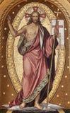Resurrection of Christ. Mosaic, Mirogoj cemetery in Zagreb, Croatia Stock Photos