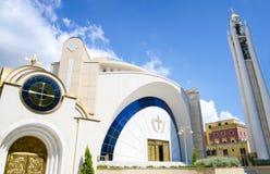 Resurrection of Christ Orthodox Cathedral in Tirana.Tirana is capital of Albania. Stock Photos