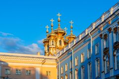 Free Resurrection Church Dome Of Catherine Palace In Tsarskoe Selo Pushkin At Sunset, St. Petersburg, Russia Royalty Free Stock Photography - 174565387