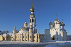 Resurrection Church and St. Sophia Cathedral in the city of Vologda Royalty Free Stock Photography