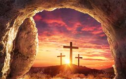 Free Resurrection Concept - Empty Tomb Royalty Free Stock Image - 212847916