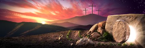 The Resurrection Day royalty free stock photography