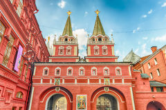 Resurrection Gate, main access to Red Square in Moscow, Russia Royalty Free Stock Photo