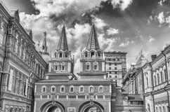 Resurrection Gate, main access to Red Square in Moscow, Russia Royalty Free Stock Photos