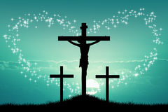 Resurrection. Illustration of Resurrection Jesus on cross Stock Image