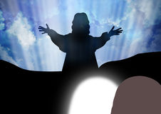 Resurrection. Of Jesus Christ-Jesus is risen Stock Images