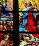 Resurrection of Jesus Christ - Stained Glass Stock Photo