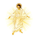 Resurrection of Jesus. With a heavenly light Royalty Free Stock Photography