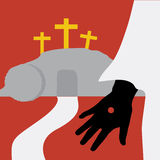 Resurrection of Jesus. (Vector/ Illustration Royalty Free Stock Photos