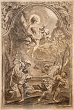 Resurrection. Lithography print in Missale romanum. Published by Venetiis, Nicolaus Pezzan in year 1768 Royalty Free Stock Image
