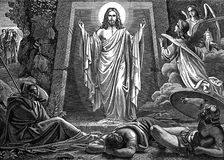 The resurrection of the Lord Jesus Christ. Stock Photo