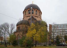 Resurrection Orthodox Cathedral autumn day. Narva Stock Photos