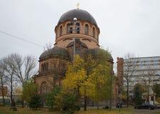 Resurrection Orthodox Cathedral autumn day. Narva Stock Photos