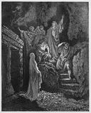 Resurrezione di Lazzaro da Gesù Fotografie Stock Libere da Diritti