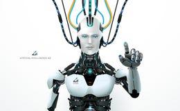 Resurs för Ai-teknologirobot royaltyfri illustrationer