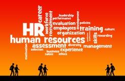 resurser för folk för affärsaffärskvinnagrupp mänskliga stora Arkivbild