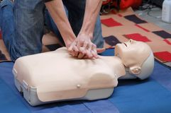 Resuscitation demonstration Royalty Free Stock Images