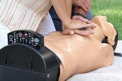 Resuscitation demonstration Royalty Free Stock Photos