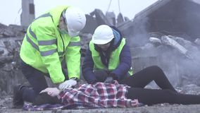 Resuscitation of human workers of the rescue service after a disaster or earthquake