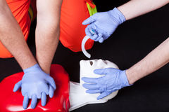 Resuscitation on phantom Royalty Free Stock Photography