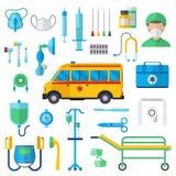 Resuscitation symbols vector illustration. Stock Images