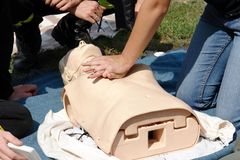Resuscitation training Stock Images
