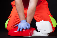 Resuscitation training Stock Photo
