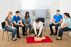 Resuscitation training Royalty Free Stock Photos