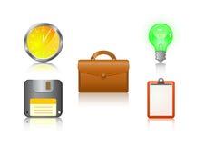 resväska för diskett anmärkning för symbol för kulaklocka set Arkivfoton