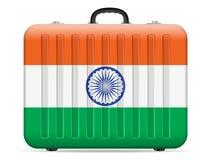 Resväska för Indien flaggalopp vektor illustrationer