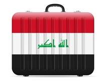 Resväska för Irak flaggalopp vektor illustrationer