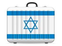 Resväska för Israel flaggalopp stock illustrationer