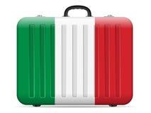 Resväska för Italien flaggalopp stock illustrationer
