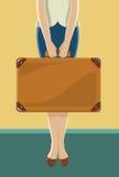 Resväska för lopp vektor illustrationer