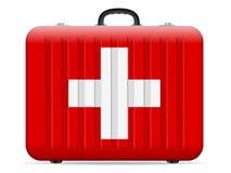 Resväska för Schweiz flaggalopp vektor illustrationer