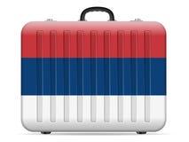 Resväska för Serbien flaggalopp vektor illustrationer