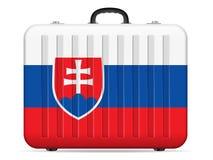 Resväska för Slovakien flaggalopp stock illustrationer