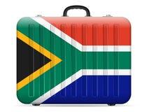 Resväska för Sydafrika flaggalopp vektor illustrationer