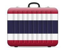 Resväska för Thailand flaggalopp royaltyfri illustrationer