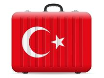 Resväska för Turkiet flaggalopp royaltyfri illustrationer