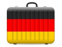 Resväska för Tysklandflaggalopp stock illustrationer