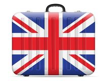 Resväska för UK-flaggalopp royaltyfri illustrationer