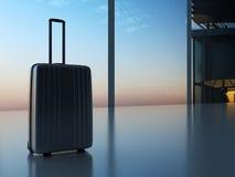 Resväska i flygplatsen Arkivfoto